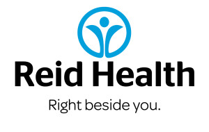Reid Health 2C Stacked logo with tagline